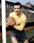 Ron Springett - In serious mood